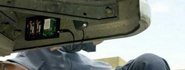 wykrywanie lokalizatora GPS w błotniku samochodu