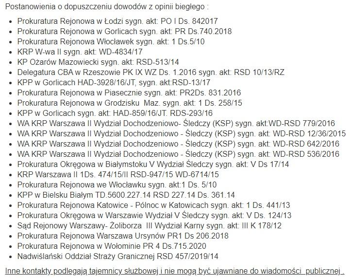 wykrywanie GPS Warszawa powołanie biegłego sądowego